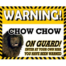 Chow Chow (black)  Yellow warning metal sign   71