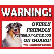 Australian Cattle  RED warning metal sign   17
