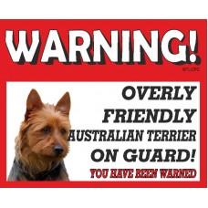 Australian Terrier RED warning metal sign   19