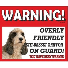 Basset PETIT Griffon RED warning metal sign   23