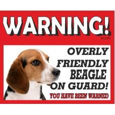 Beagle  RED warning metal sign   24