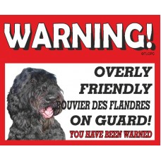 Bouvier des Flandres  RED warning metal sign   40