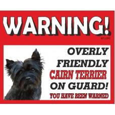 Cairn Terrier (black)  RED warning metal sign   54