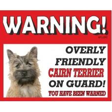 Cairn Terrier (golden dog) RED warning metal sign   55