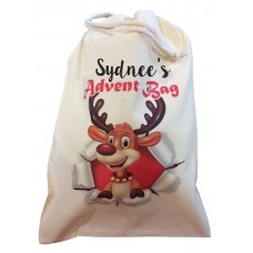 Personalised Christmas ADVENT bag with any name