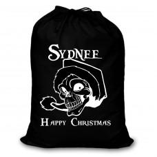 Alternative Christmas SACK santa skull design